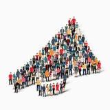Grupowi ludzie kształt cygarniczki Obraz Stock