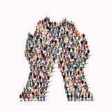 grupowi ludzie kształt ręki fotografia stock