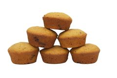 grupowi muffins fotografia stock