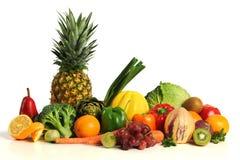 grupowi owoc asorted warzywa zdjęcie stock