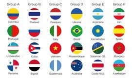 Grupowi symboli/lów guziki royalty ilustracja