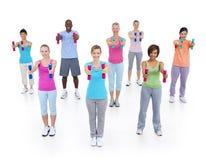 Grupowi Zdrowi ludzie sprawności fizycznej pojęcia Obrazy Royalty Free