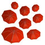 grupowy czerwony parasol Fotografia Royalty Free