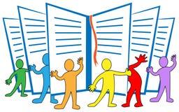 Grupowy czytanie ilustracja wektor
