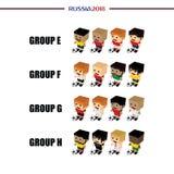 grupowy drużynowy Russia piłki nożnej turniej 2018 ilustracja wektor