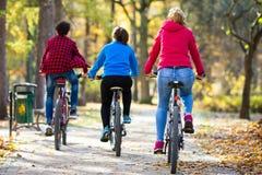 Grupowy jechać na rowerze Zdjęcie Royalty Free