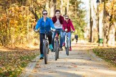 Grupowy jechać na rowerze Obrazy Royalty Free