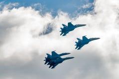 Grupowy lot rosyjska loci drużyna na SU-27 zdjęcie stock