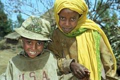 Grupowy portret Etiopscy dzieci Obraz Stock