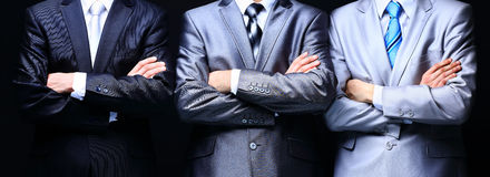 Grupowy portret fachowy biznesowy teamon Zdjęcia Stock