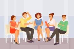 Grupowy psychologiczny doradzać ilustracja wektor