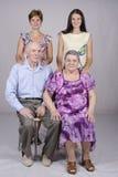 Grupowy rodzinny portret Obraz Stock