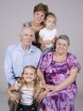 Grupowy rodzinny portret Zdjęcia Stock