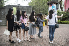 Grupowy selfie, Shenzhen Obraz Stock