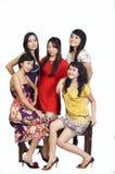 grupowy szczęśliwy ja target2188_0_ Obraz Royalty Free