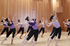 Grupowy taniec obrazy stock