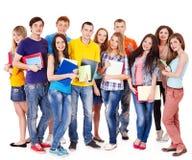 Grupowy uczeń z notatnikiem. Zdjęcie Stock