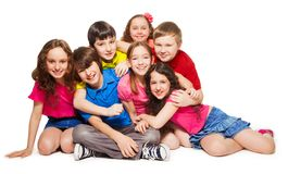 Gruppskratt är ett raddagyckel royaltyfri fotografi