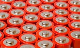 Grupp av AA-batterier Royaltyfri Foto