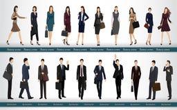 Grupp av affärsfolk i affärsdräkter stock illustrationer