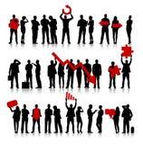 Grupp av affärsfolk och felbegrepp Fotografering för Bildbyråer