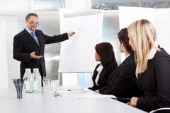 Grupp av affärsfolk på presentationen arkivbilder