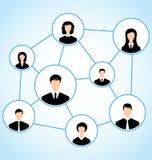 Grupp av affärsfolk, socialt förhållande Royaltyfri Bild