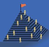 Grupp av affärsmän i konkurrens Arkivbild