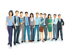 Grupp av affärsmän och kvinnor Fotografering för Bildbyråer