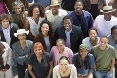 Grupp av afrikansk amerikanfolk Arkivfoto