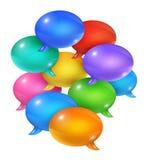 Grupp av anförandebubblor Arkivbilder