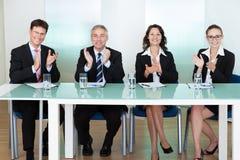 Grupp av anställningrekryteringtjänstemän Arkivbild