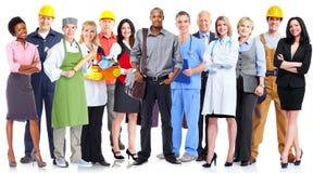 Grupp av arbetarfolk arkivbild
