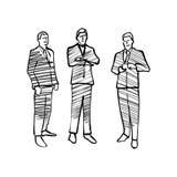 Grupp av att dra för affärsfolk royaltyfri illustrationer