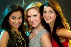 Grupp av att festa för kvinnor Royaltyfri Bild