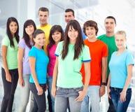 Grupp av att le People5 royaltyfri foto