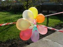 Grupp av ballonger Arkivfoton