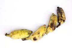 Grupp av bananer som isoleras på vit bakgrund Royaltyfria Bilder