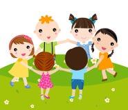 Grupp av barn Royaltyfri Fotografi
