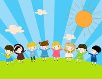 Grupp av barn Fotografering för Bildbyråer