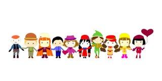 Grupp av barn Royaltyfria Bilder