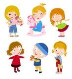 Grupp av barn vektor illustrationer
