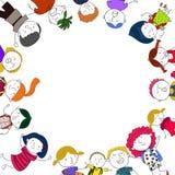 Grupp av barn Arkivbild