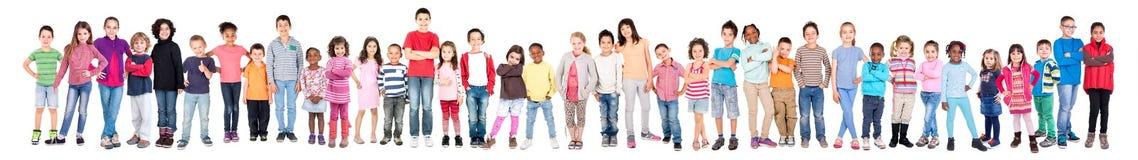 Grupp av barn arkivfoton