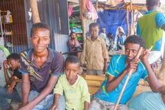 Grupp av barn i Etiopien Fotografering för Bildbyråer