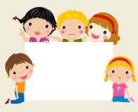 Grupp av barn som har gyckel Royaltyfri Bild