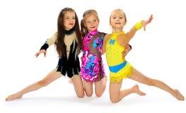 Grupp av barnakrobater Fotografering för Bildbyråer