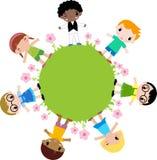 Grupp av barnblomman Arkivfoto
