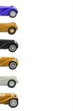 Grupp av bilmodeller Arkivbilder