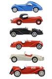 Grupp av bilmodeller Arkivbild
